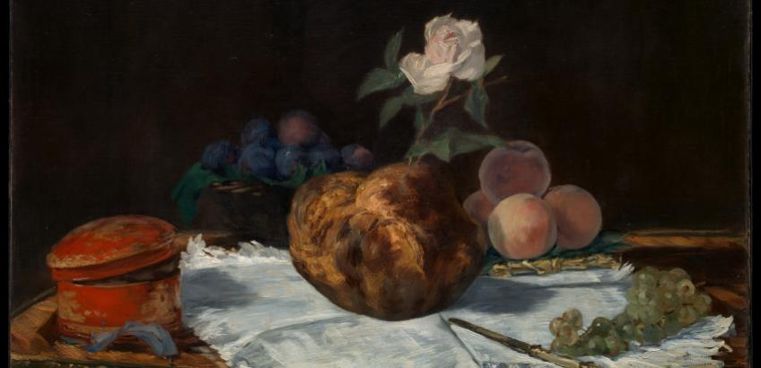 "Eduard Manets maleri ""The Brioche"" (1870) fra Rijksmuseum, Amsterdam"